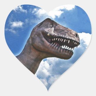 Dinossauro!!! Adesivo Coração