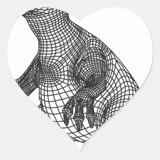 dinossauro adesivo coração