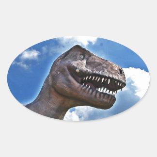 Dinossauro!!! Adesivo Oval