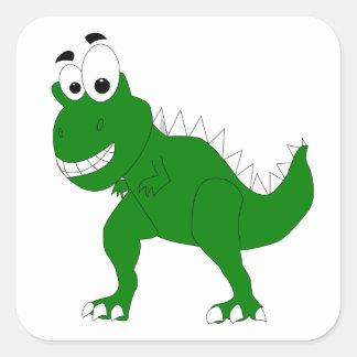 dinossauro adesivo quadrado