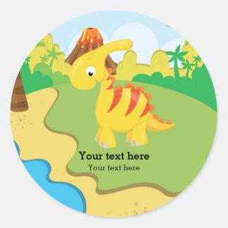 Dinossauro adorável adesivo