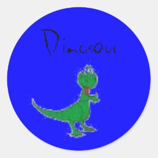 Dinossauro Adesivo Redondo