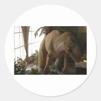 dinossauro adesivo em formato redondo