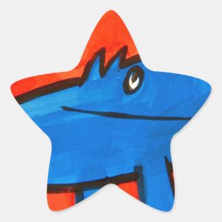 Dinossauro azul adesito estrela