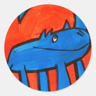 Dinossauro azul adesivo