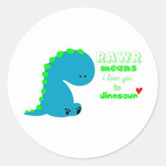 Dinossauro bonito RAWR Adesivo