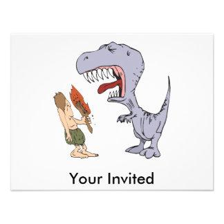 Dinossauro Burping Convite Personalizado