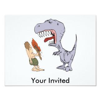 Dinossauro Burping Convite 10.79 X 13.97cm