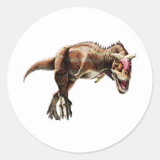 Dinossauro carnívoro impressionante do presente do adesivo