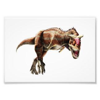 Dinossauro carnívoro impressionante do presente do impressão de foto