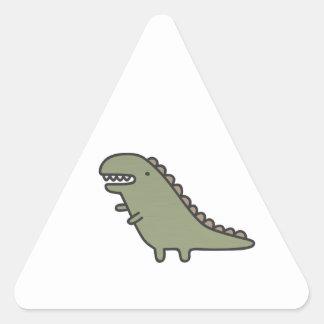 Dinossauro de agitação! adesivo triangular