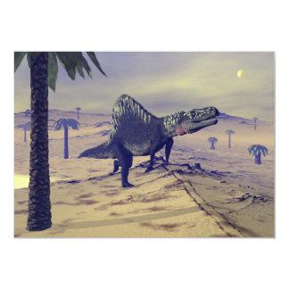 Dinossauro de Arizonasaurus - 3D rendem Convite 12.7 X 17.78cm