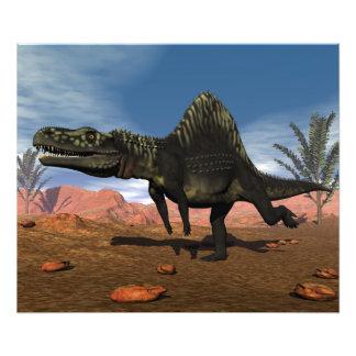 Dinossauro de Arizonasaurus no deserto Impressão De Foto