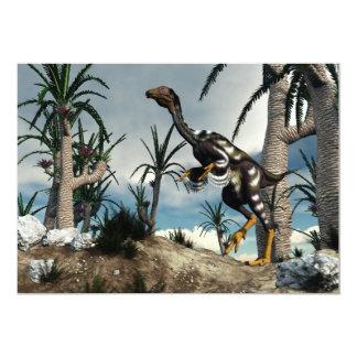 Dinossauro de Caudipteryx - 3D rendem Convite 12.7 X 17.78cm