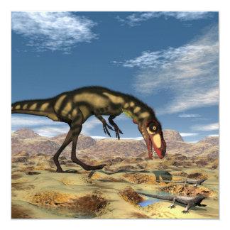 Dinossauro de Dilong - 3D rendem Convite Quadrado 13.35 X 13.35cm