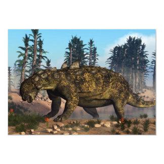 Dinossauro de Euoplocephalus - 3D rendem Convite 12.7 X 17.78cm