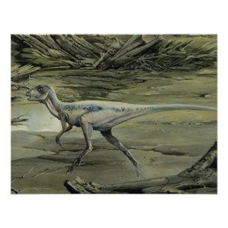 Dinossauro de Hypsilophodon do vintage Convites