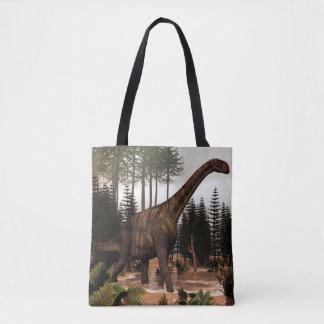Dinossauro de Jobaria - 3D rendem Bolsas Tote