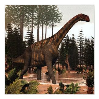 Dinossauro de Jobaria - 3D rendem Convite Quadrado 13.35 X 13.35cm