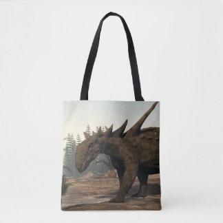 Dinossauro de Sauropelta - 3D rendem Bolsa Tote