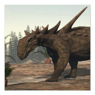 Dinossauro de Sauropelta - 3D rendem Convite Quadrado 13.35 X 13.35cm