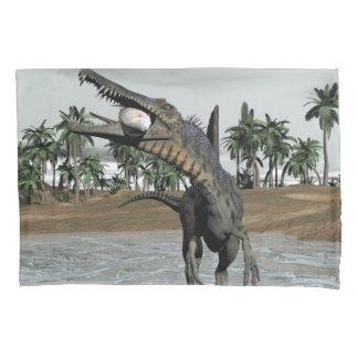 Dinossauro de Spinosaurus que come peixes - 3D