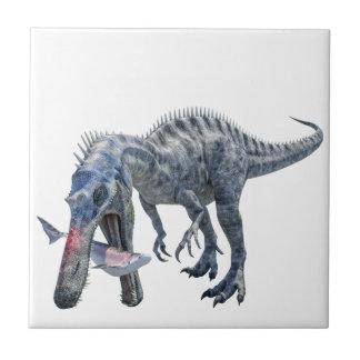 Dinossauro de Suchomimus que come um tubarão