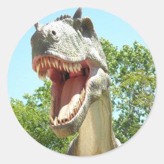 Dinossauro de T-Rex do tiranossauro Adesivos Redondos