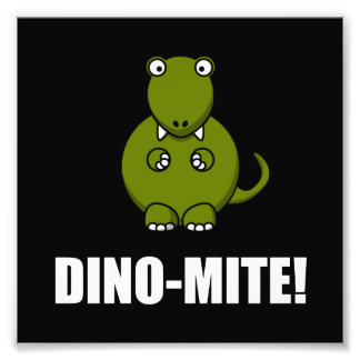 Dinossauro do ácaro de Dino Impressão De Foto