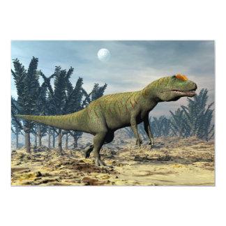 Dinossauro do Allosaurus - 3D rendem Convite 12.7 X 17.78cm