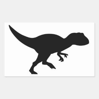 Dinossauro do Allosaurus Adesivo Retangular