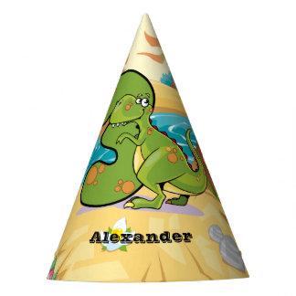 Dinossauro do aniversário de 3 anos chapéu de festa