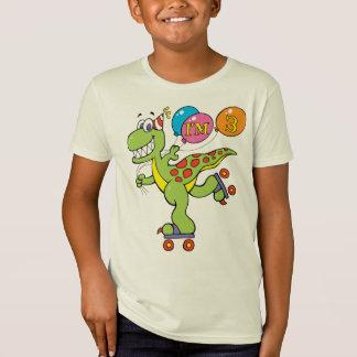 Dinossauro do aniversário de 3 anos tshirts