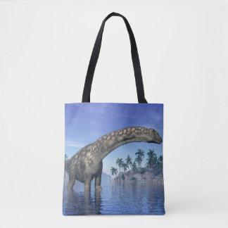 Dinossauro do Argentinosaurus - 3D rendem Bolsas Tote