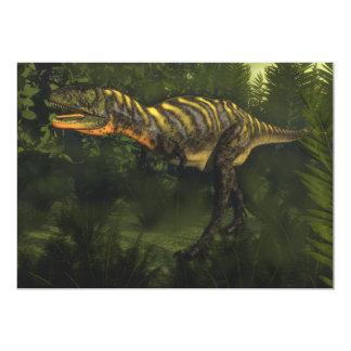 Dinossauro do Aucasaurus - 3D rendem Convite 12.7 X 17.78cm