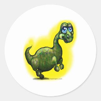 Dinossauro do bebê adesivos em formato redondos