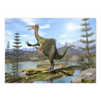 Dinossauro do Deinocheirus - 3D rendem Convite 12.7 X 17.78cm