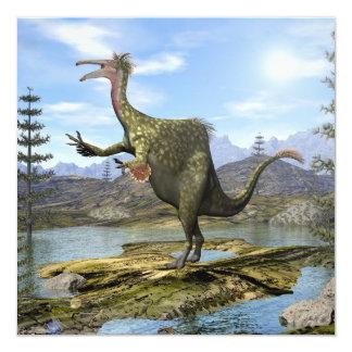 Dinossauro do Deinocheirus - 3D rendem Convite Quadrado 13.35 X 13.35cm