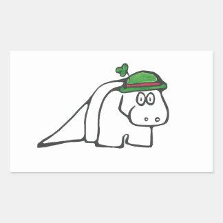 Dinossauro do dia de St Patrick Adesivo Retangular