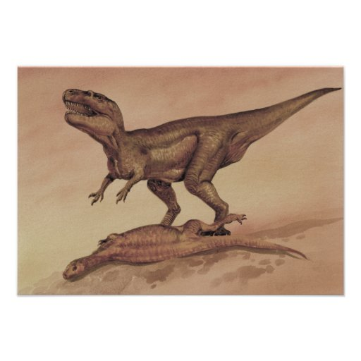 Dinossauro do Giganotosaurus do vintage, carnívoro Convites