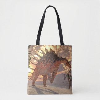 Dinossauro do Kentrosaurus - 3D rendem Bolsas Tote