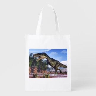 Dinossauro do Monolophosaurus - 3D rendem Sacola Ecológica