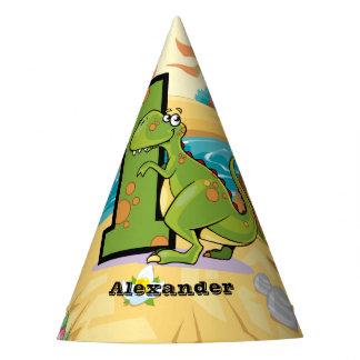 Dinossauro do primeiro aniversario chapéu de festa