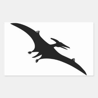 Dinossauro do Pterodactyl Adesivo Retangular