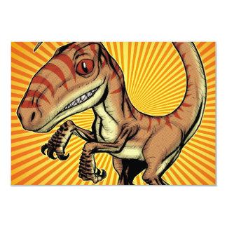Dinossauro do raptor do Velociraptor por Marco D Convite Personalizado