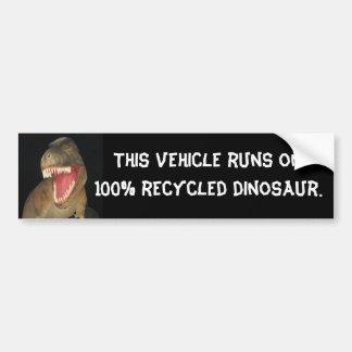 Dinossauro do reciclado adesivo para carro