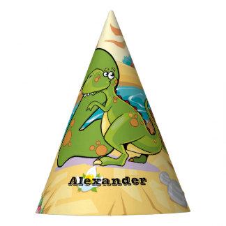 Dinossauro do segundo aniversário chapéu de festa