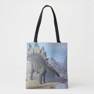 Dinossauro do Stegosaurus - 3D rendem Bolsa Tote
