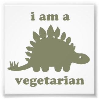 Dinossauro do Stegosaurus do vegetariano - verde Impressão De Foto