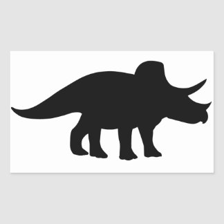 Dinossauro do Triceratops Adesivo Retangular